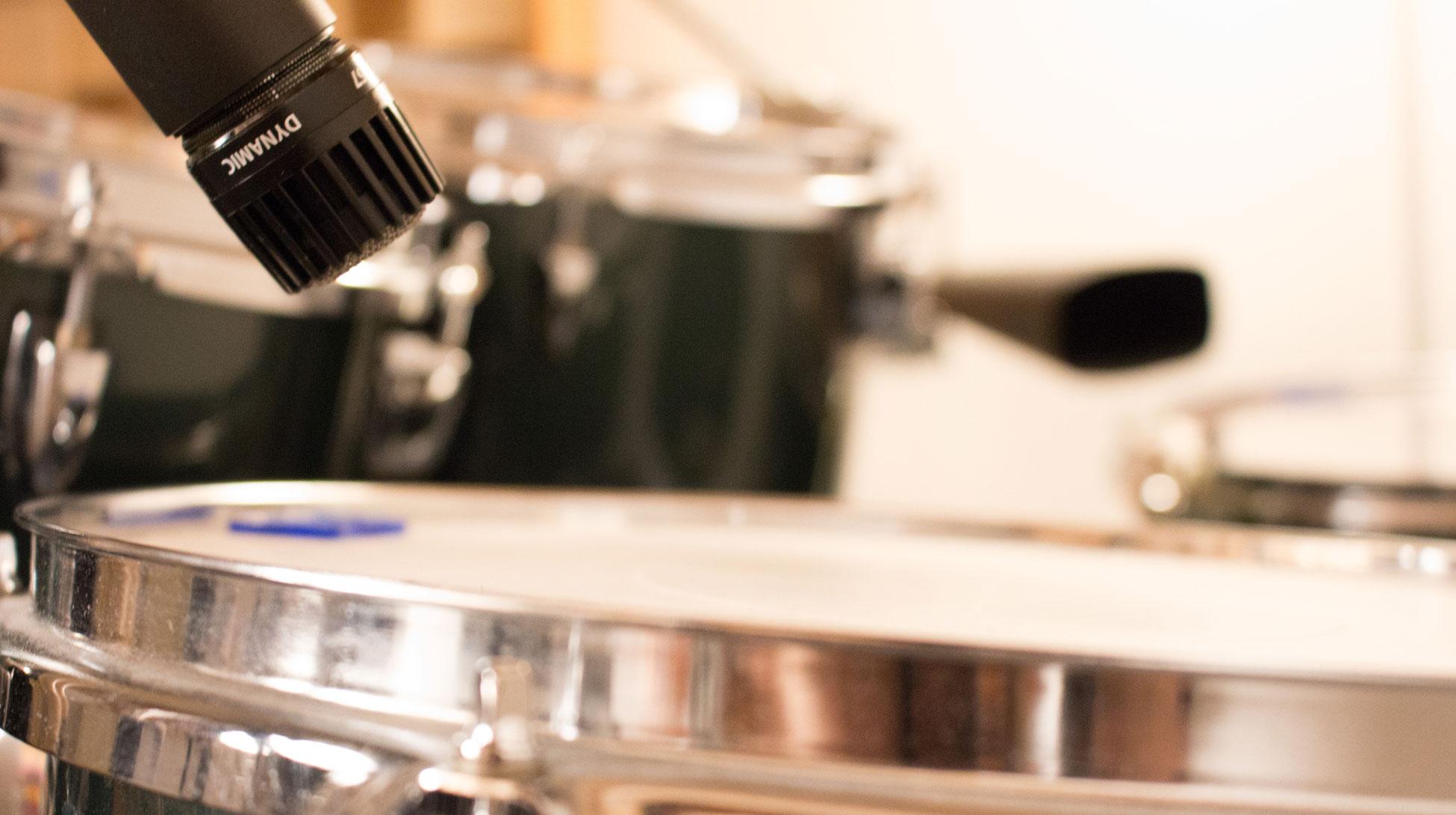 Tonstudio33 - Musikproduktion Mixing Mastering - Schlagzeug Sm57