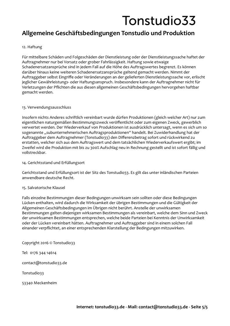 AGB Tonstudio33 - Seite 05